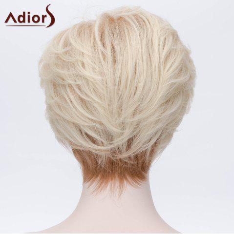 Unique Adiors Short Layered Side Bang Silky Straight Party Synthetic Wig - COLORMIX  Mobile