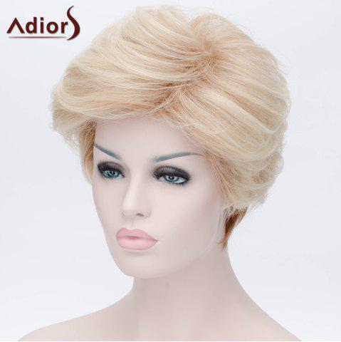 Discount Adiors Short Layered Side Bang Silky Straight Party Synthetic Wig - COLORMIX  Mobile