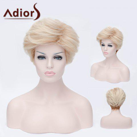Outfit Adiors Short Layered Side Bang Silky Straight Party Synthetic Wig