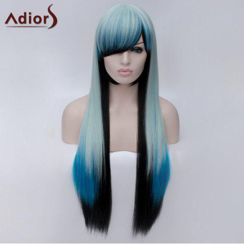 Shop Adiors Long Side Bang Colormix Silky Straight Party Synthetic Wig - COLORMIX  Mobile