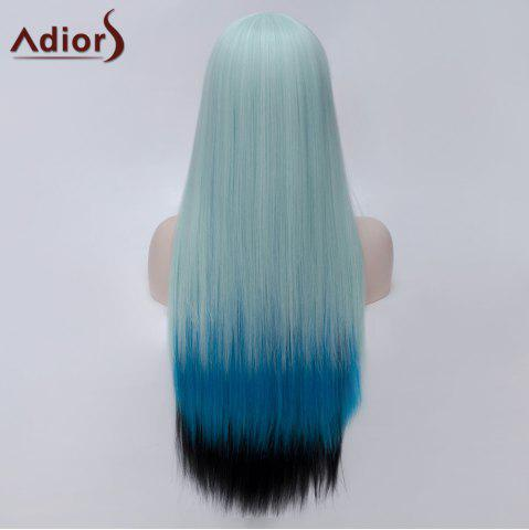 Fashion Adiors Long Side Bang Colormix Silky Straight Party Synthetic Wig - COLORMIX  Mobile
