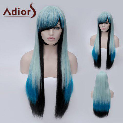 Discount Adiors Long Side Bang Colormix Silky Straight Party Synthetic Wig