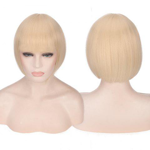 Shops Candy Color Short Neat Bang Straight Synthetic Cosplay Wig PALOMINO