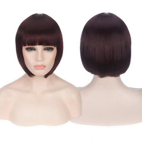 Buy Candy Color Short Neat Bang Straight Synthetic Cosplay Wig