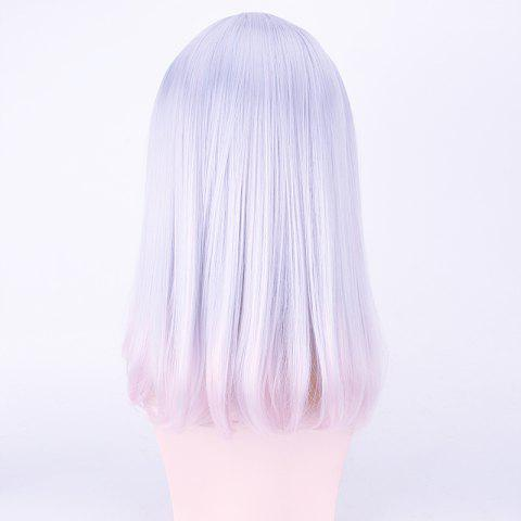 Unique Harajuku Medium Neat Bang Straight Synthetic Cosplay Wig - CRYSTAL CREAM  Mobile