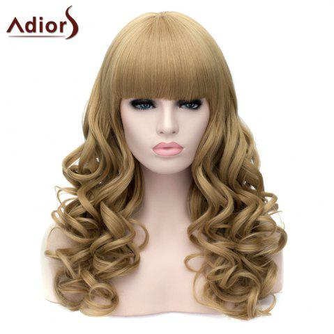 Buy Adiors Long Neat Bang Fluffy Wavy Party Synthetic Wig - FLAX  Mobile