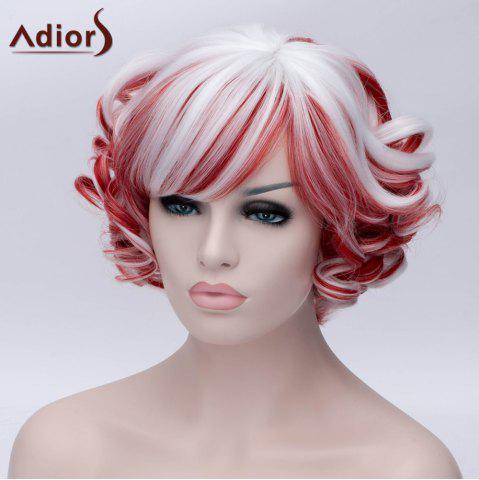 Outfit Adiors Short Inclined Bang Colormix Curly Party Synthetic Wig - COLORMIX  Mobile