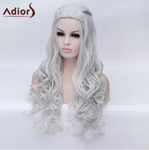 Buy Adiors Braided Long Fluffy Wavy Party Synthetic Wig - SILVER WHITE  Mobile