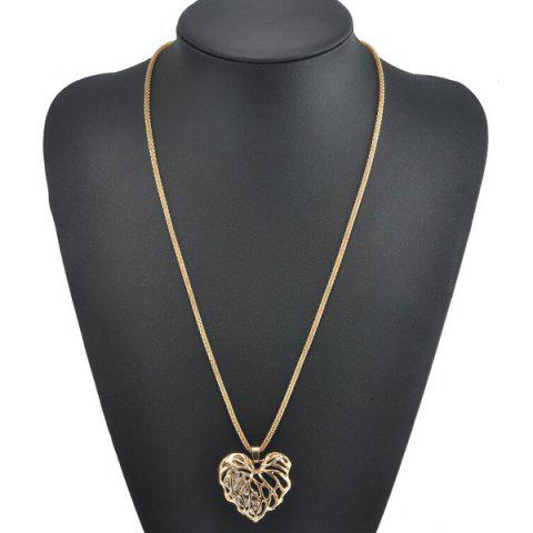 Outfit Rhinestone Heart Sweater Chain GOLDEN