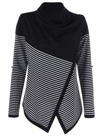 Outfit Cowl Neck Surplice Striped Knitwear