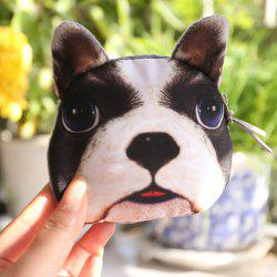3D Doggie Print Coin Purse - BLACK