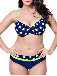 Polka Dot Padded Plus Size Bathing Suit