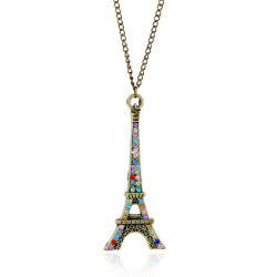 Rhinestone Eiffel Tower Sweater Chain