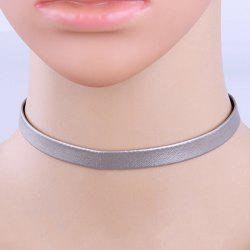 Punk Faux Leather Choker Necklace