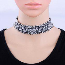Wide Canvas Choker Necklace