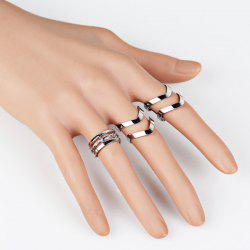 Geometric Hollow Out Cuff Rings
