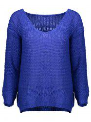 Open Knit Scoop Neck Sweater