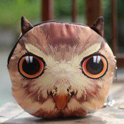 Chains Owl 3D Print Crossbody Bag