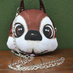 Chains Squirrel 3D Print Crossbody Bag