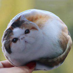 3D Fatty Cat Print Coin Purse