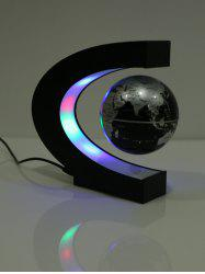 Decoration Craft Floating C Shape Magnetic Globe With LED Light