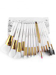 15 Pcs Portable Fiber Makeup Brushes Set with Brush Bag