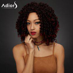 Medium Shaggy Curly Synthetic Wig -