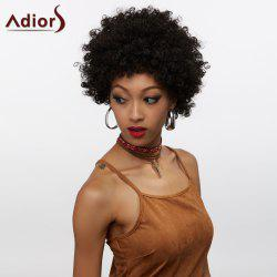 Short Neat Bang Shaggy Curly Synthetic Wig -