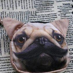 3D Dog Painted Wristlet Coin Purse - LIGHT KHAKI
