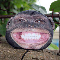 3D Monkey Painted Coin Purse - BLACK