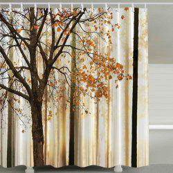 Fall Maple Waterproof Shower Curtain with Hook - COLORMIX