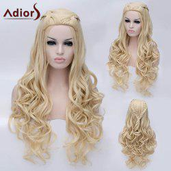 Adiors Braided Long Shaggy Wavy Party Synthetic Wig