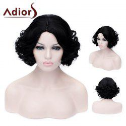 Adiors Short Side Parting Fluffy Curly Party Synthetic Wig