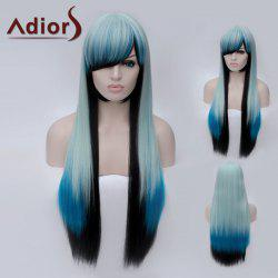 Adiors Long Side Bang Colormix Silky Straight Party Synthetic Wig - COLORMIX