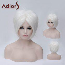 Adiors Short Middle Parting Silky Straight Party Synthetic Wig