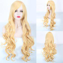 Long Side Bang Wavy Harajuku Synthetic Cosplay Wig - SUNFLOWER