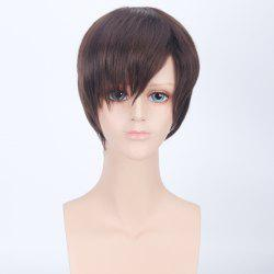 Short Side Bang Straight Harajuku Synthetic Cosplay Wig