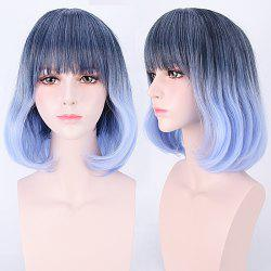 Short Neat Bang Colormix Straight Harajuku Synthetic Cosplay Wig
