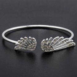 Rhinestone Angel Wings Cuff Bracelet