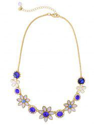 Artificial Sapphire Glaze Flower Necklace