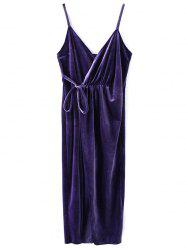 Mini Sleeveless Velvet Wrap Dress