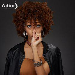 Adiors Short Neat Bang Towheaded Curly Synthetic Wig