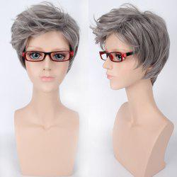 Short Oblique Bang Shaggy Straight Synthetic Cosplay Wig