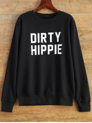 Dirty Hippie Print Pullover Sweatshirt
