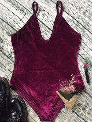 Slip Velvet Low Cut Bodysuit