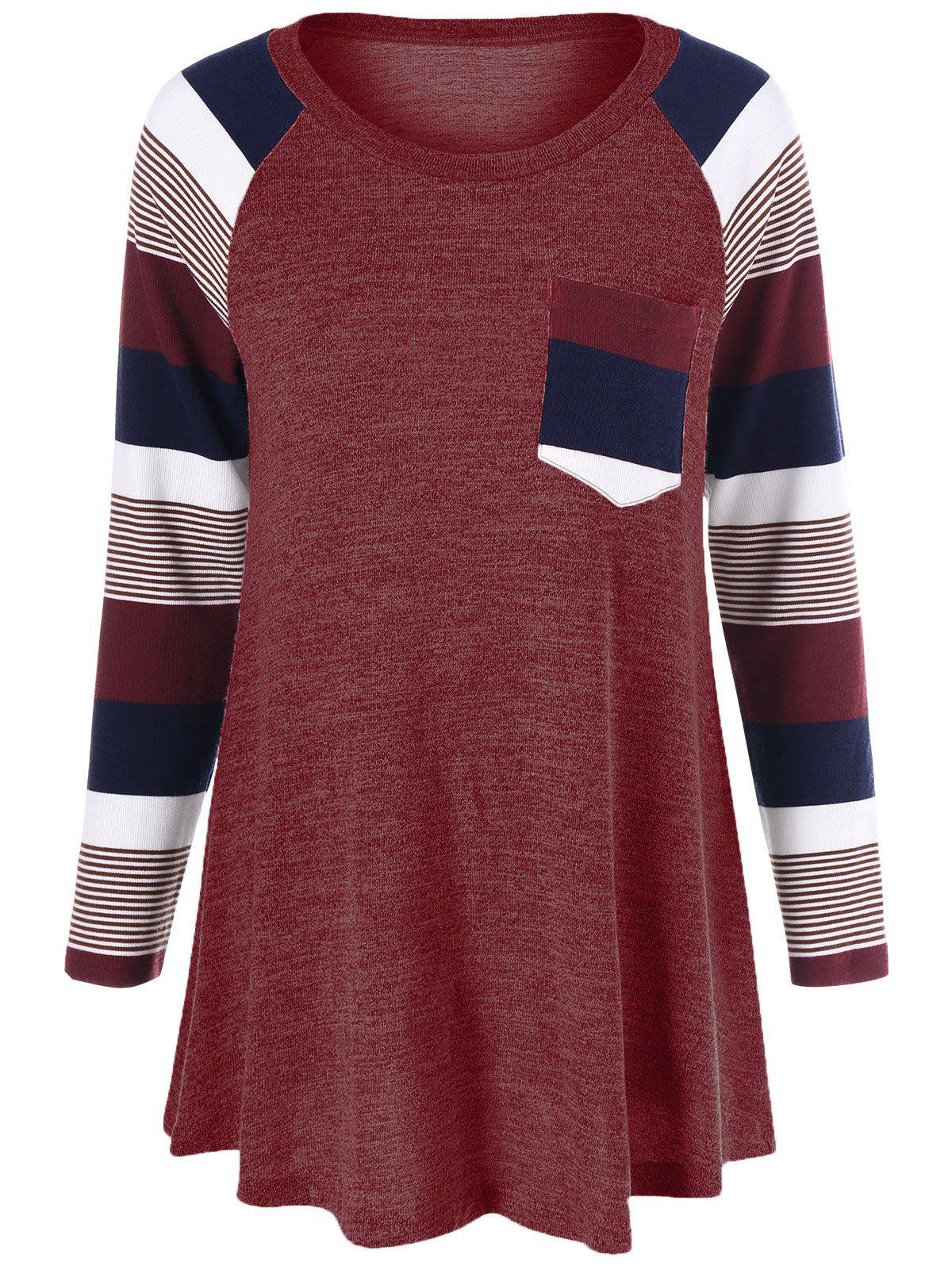 Outfit Striped Trim Knitwear