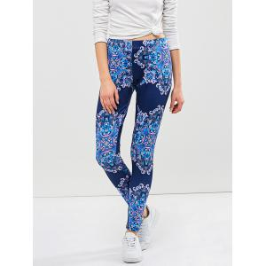 Graphic Elastic Waist Leggings