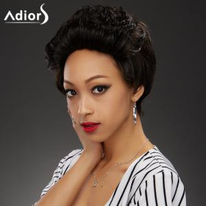 Stylish Ultrashort Curly High Temperature Fiber Women's Wig -