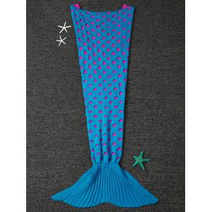 Home Decor Broken Hole Knitted Mermaid Blanket Throw For Kids