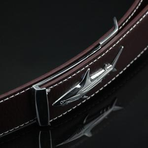 Alloy Shark Covered Pin Buckle Faux Leather Belt -